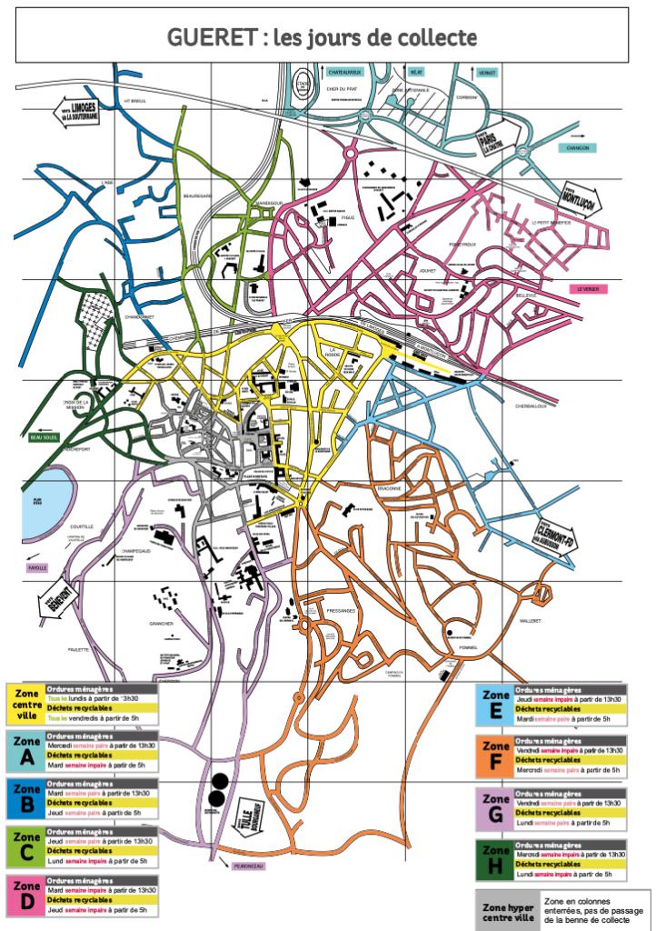 Evolis : carte des zones de collecte